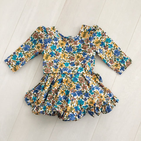 vintage autumn flowers dress 3t