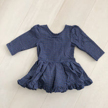 vintage navy plaid dress 3t