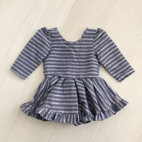 vintage chambray stripe dress 3t