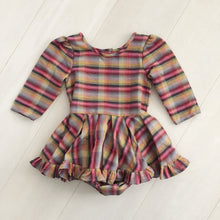 vintage sunset plaid dress 3t