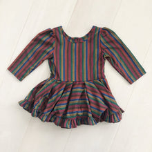 vintage jewel stripe dress 3t