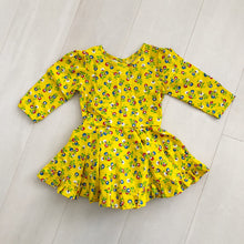 vintage yellow floral dress 4t