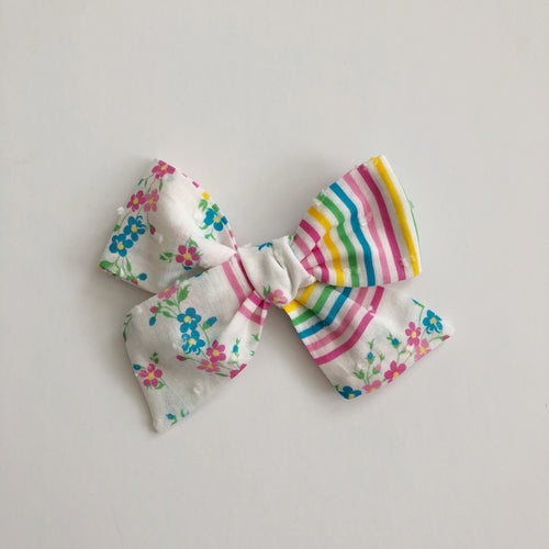 large aubrey bow // rainbow floral