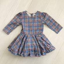 vintage blue plaid dress 5t