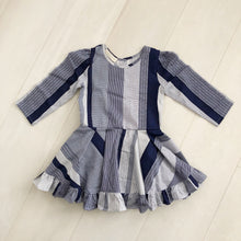 vintage navy grid dress 5t