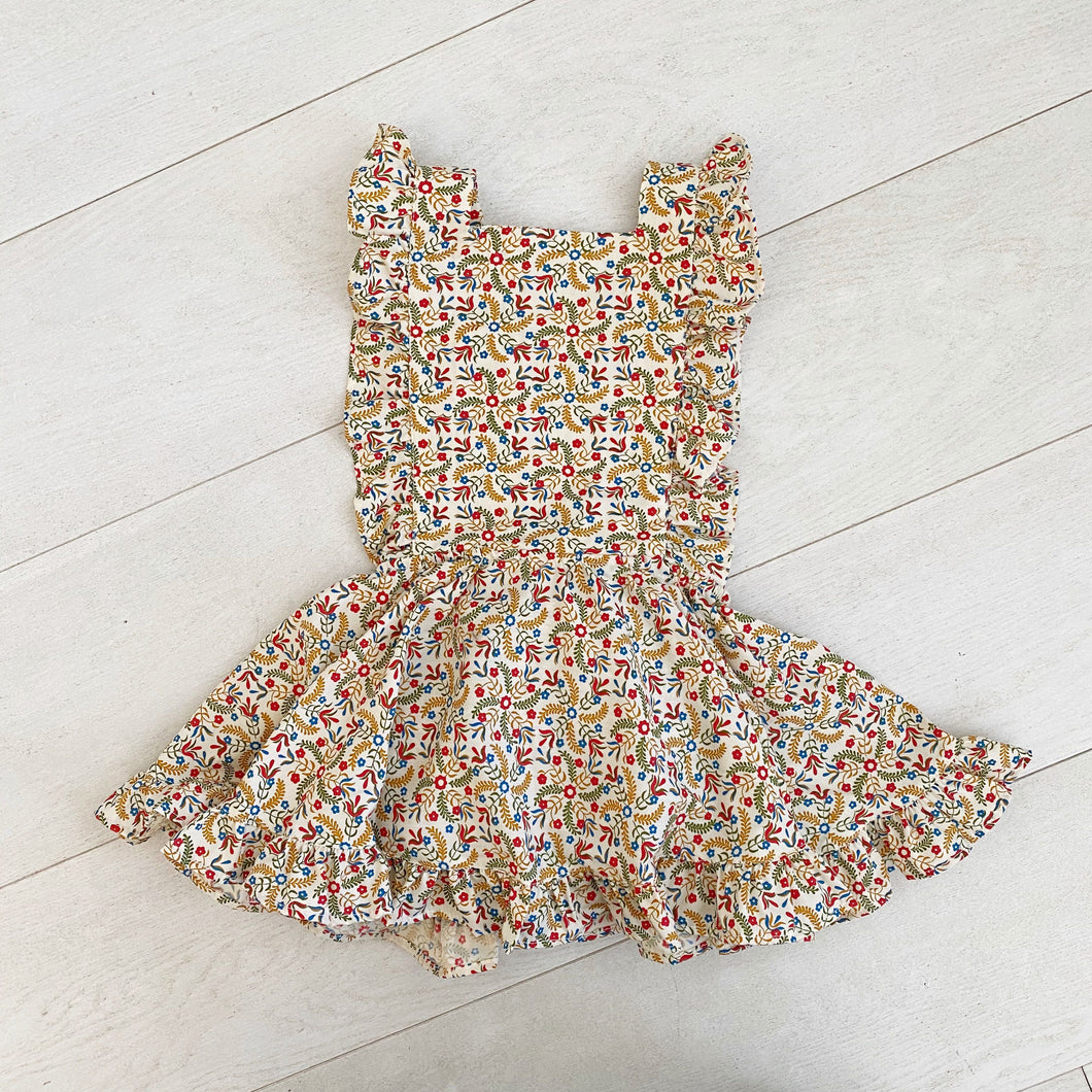vintage liana pinafore // size 3t