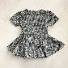 vintage flocked gingham dress 4t