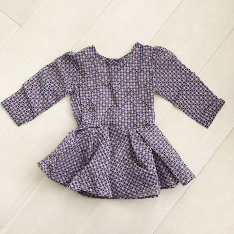 vintage plaid swiss dot dress 5t