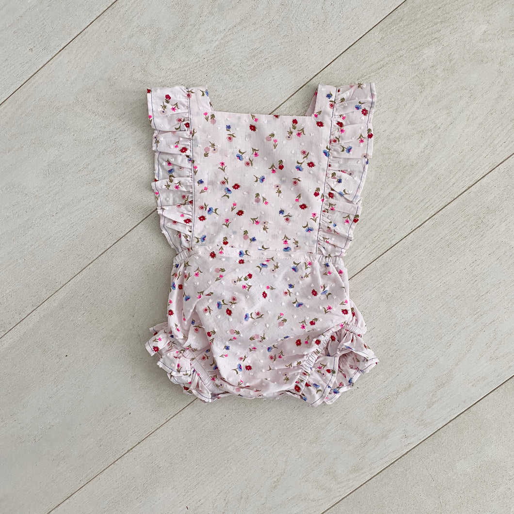 floral clip dot sunsuit