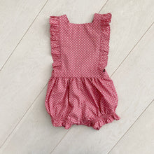 rose dot bubble romper