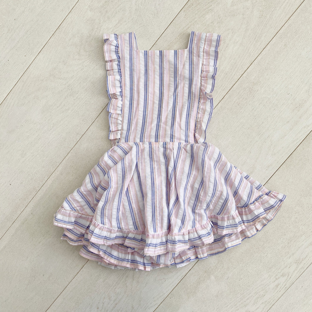 striped seersucker pinafore