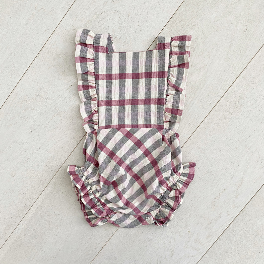 pink plaid sunsuit