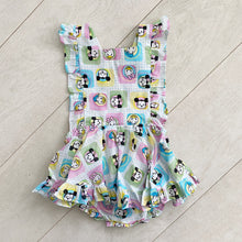 vintage character pinafore k // size 2t