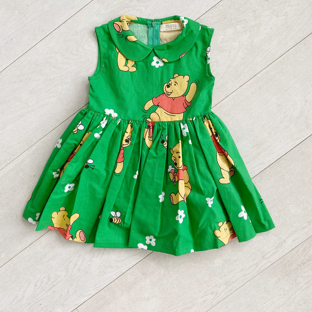 vintage winnie the pooh sleeveless peter pan dress