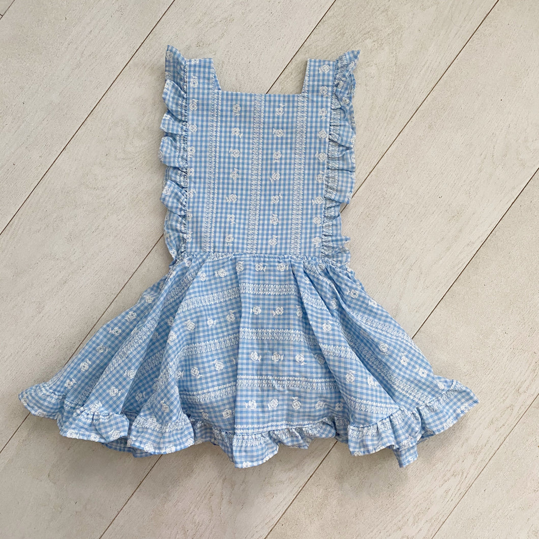 vintage hope pinafore // size 5t