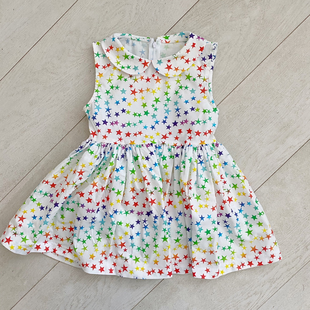 vintage sleeveless peter pan dress 004 // size 5t