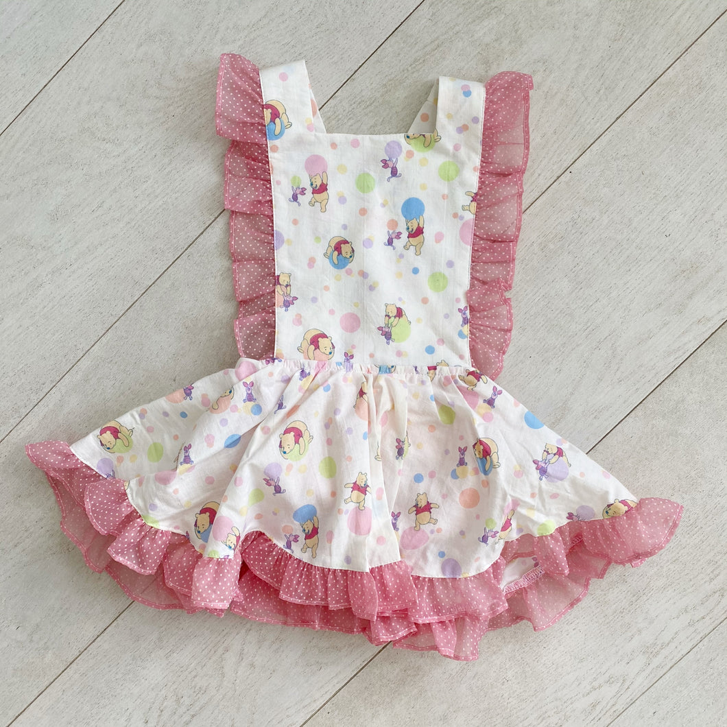 vintage character pinafore aa // size 3t