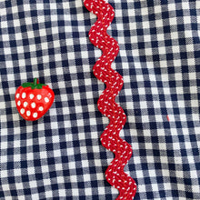 strawberry gingham pinafore