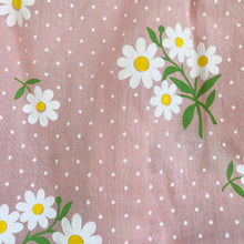 pink daisy sleeveless peter pan dress