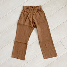 cinnamon linen paperbag trousers
