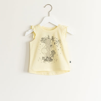 """Flutter"" Top - Yellow"