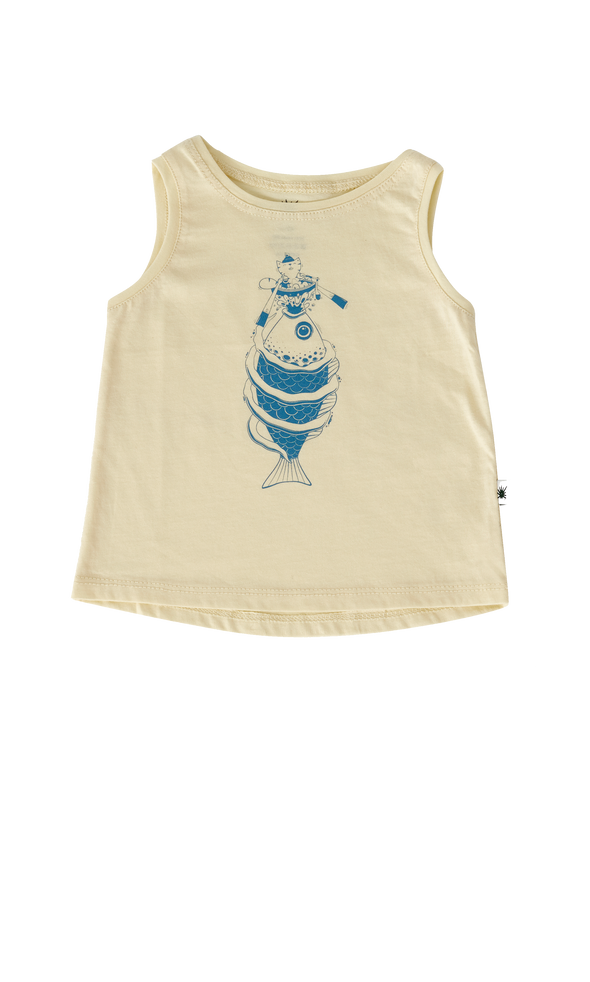 """Anchor"" Top - Soft Yellow"