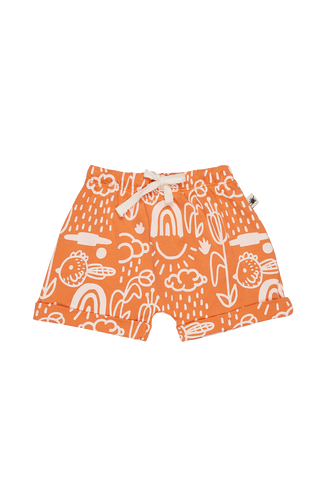 """Baggy"" Shorts - Flamingo"