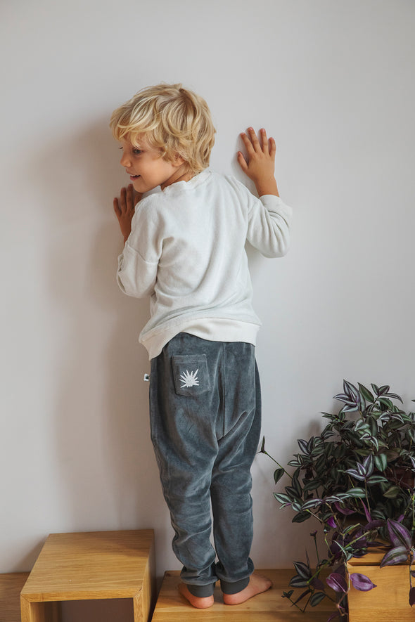 """Baggy"" Velvet Pants - Anthracite"