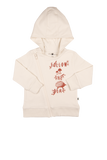 """Beat"" Hooded Sweatshirt - Offwhite"