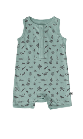 """Captain"" Romper - Seaside Blue"
