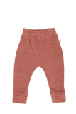 """Cross"" Terry Towel Pants - Dusty Rose"