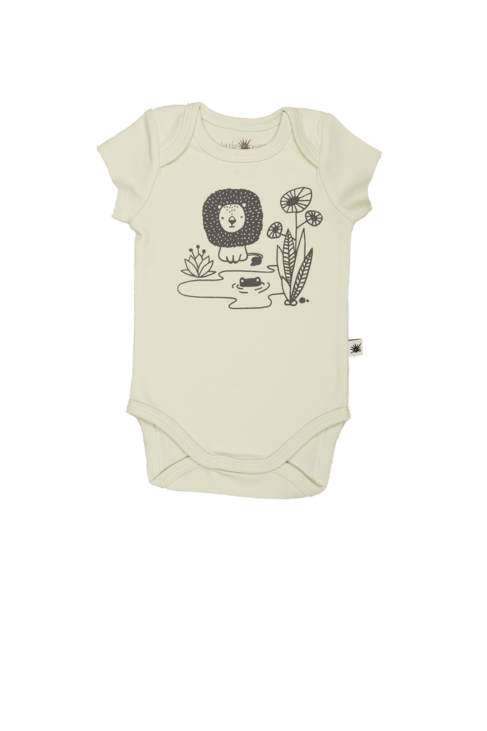 """Envelope"" Short Sleeve Onesie - Aqua"