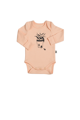 """Envelope"" Long Sleeve Onesie - Powder"