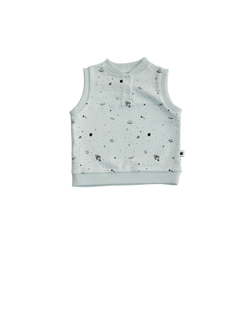 """Galaxie"" Vest - Ice Blue"