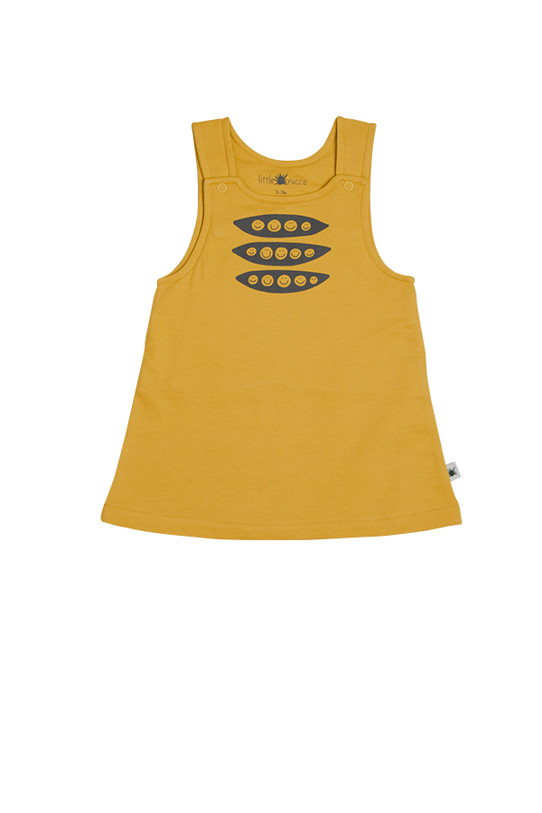 """Leaf"" Jumper Dress - Mustard"