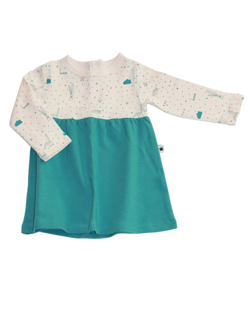 """Marshmallow"" Dress / Teal"