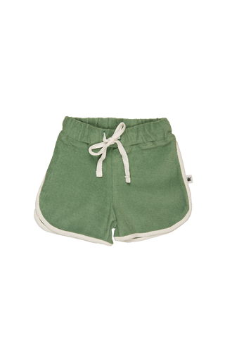 """Run"" Terry Towel Shorts - Basil"