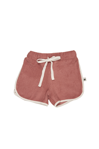 """Run"" Terry Towel Shorts - Dusty Rose"