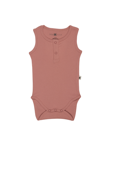 """Simples"" Sleeveless Onesie - Dusty Rose"