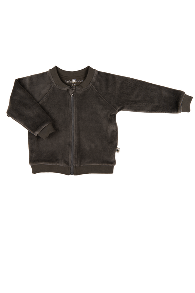 """Soul"" Velvet Jacket - Anthracite"
