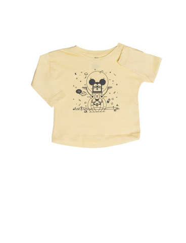 """Star"" Tshirt - Soft Yellow"