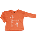 """Canoe"" Tshirt Long Sleeve / Pumpkin"