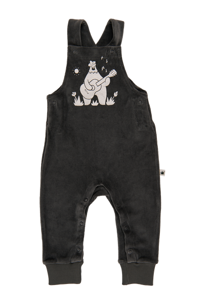 """Yucca"" Velvet Dungarees - Anthracite"