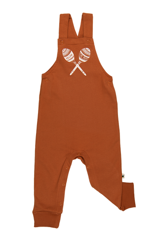 """Yucca"" Dungarees - Rust"