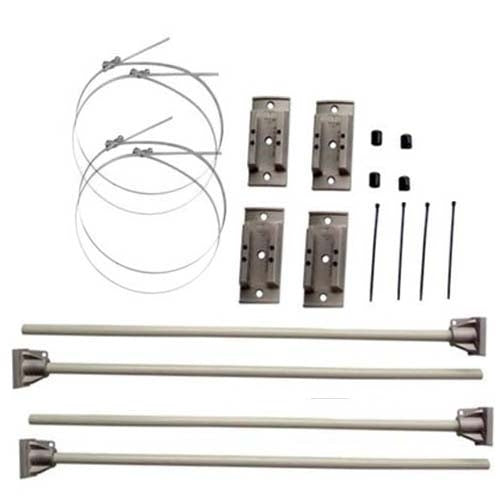 "Windpro® Hurricane Bracket 30"" Double Set - Silver"