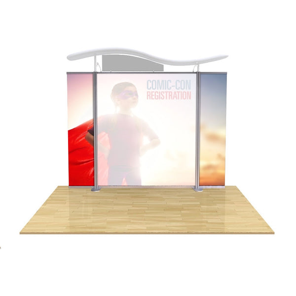 Modular Display graphic Straight End Panels set of two (fits Brandstand™ Satellite™)