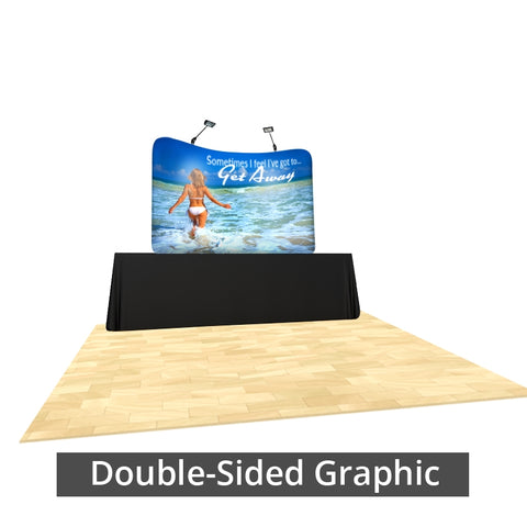 Generic 8ft Table-top replacement graphic double sided (fits Brandstand™ 8ft table-top Waveline™ frame)