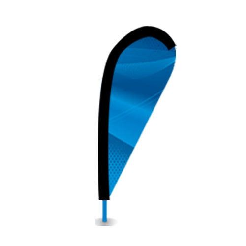 Extra Large Teardrop Flag Single-Sided Graphic