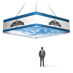Graphic 15x36 Square Double-Sided hanging Banner