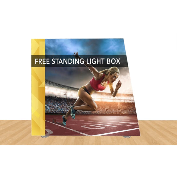 "Angled Freestanding Light Box 108"" X 96 Graphic Replacements"